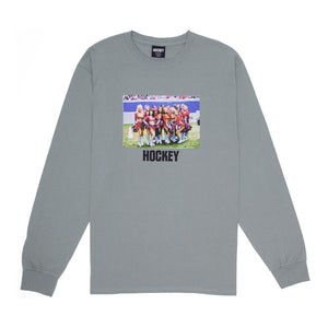Hockey - Cheerleader L/S Tee | Stonewash Green