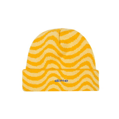 Dime Wave Beanie | Yellow