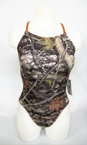 Camo with Orange Double X Straps