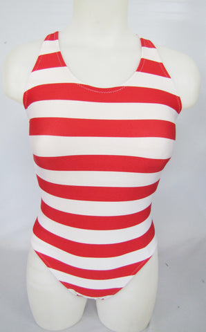 Red and White Striped Classic Back