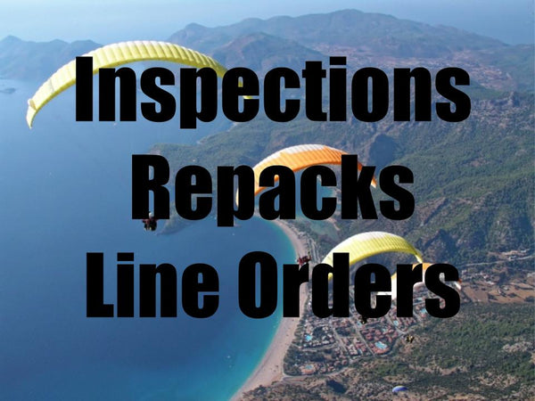 Reserve Repacks, Paraglider Inspections, and Line Orders