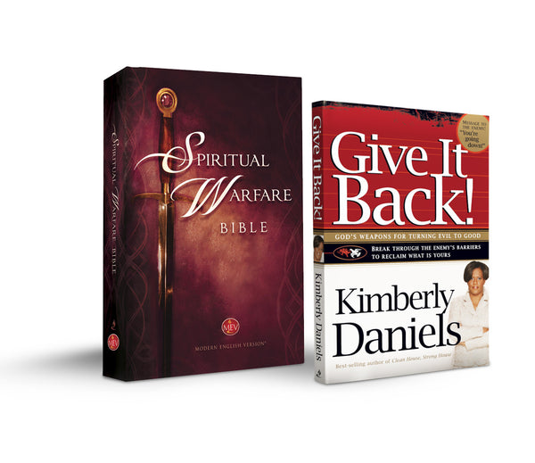 Spiritual Warfare Bible Hardcover with Free 'Give it Back' by Kimberly Daniels
