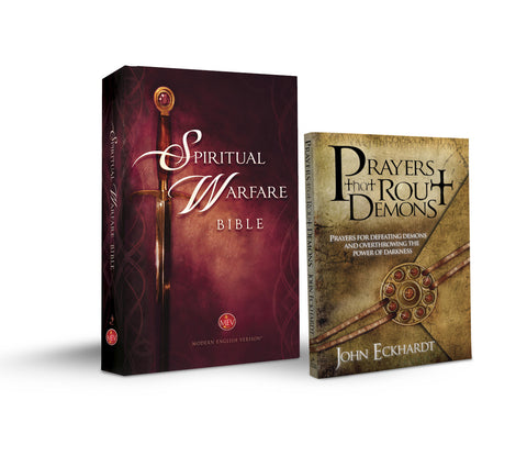 Spiritual Warfare Bible Hardcover with Free 'Prayers that Rout Demons' by John Eckhardt