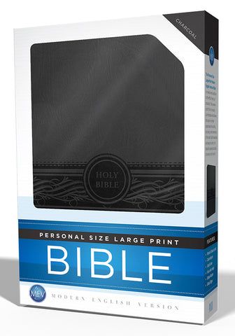 Personal Size Large Print Charcoal Bible