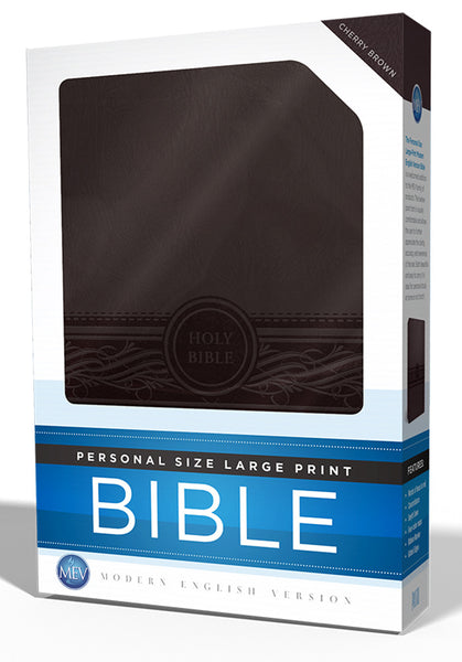 Personal Size Large Print Cherry Brown Bible