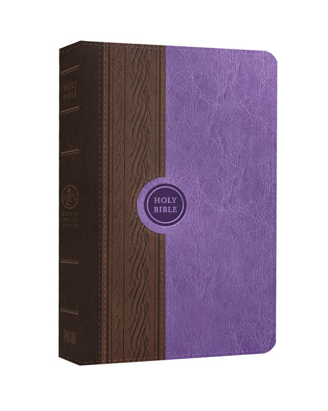 Thinline Reference English Violet and Brown Leatherlike Bible