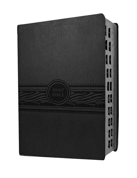 Personal Size Large Print Charcoal Indexed Bible