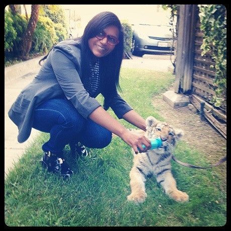 Mindy with baby Tiger