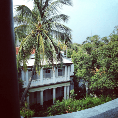 View from Pondicherry hotel room