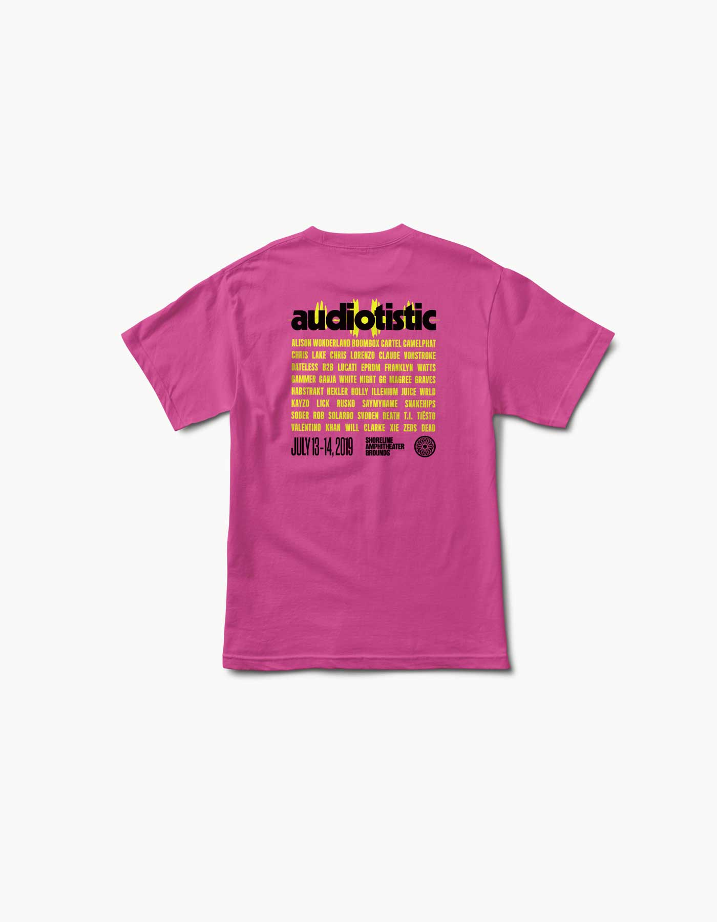 Audiotistic Bay Area Wave Form 2019 Line Up Tee