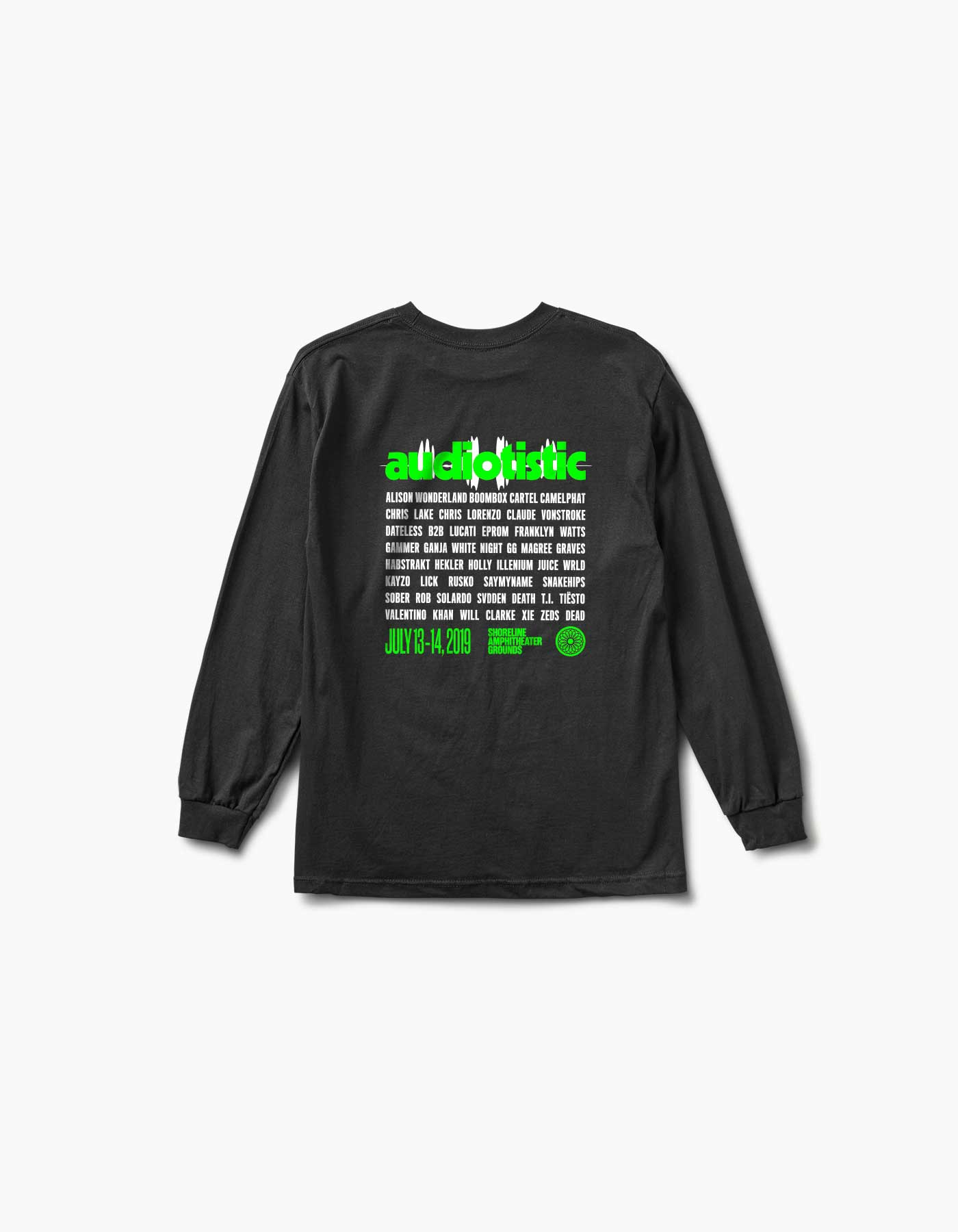 Dreamstate Fader 2018 SF Line Up L/S Tee Black