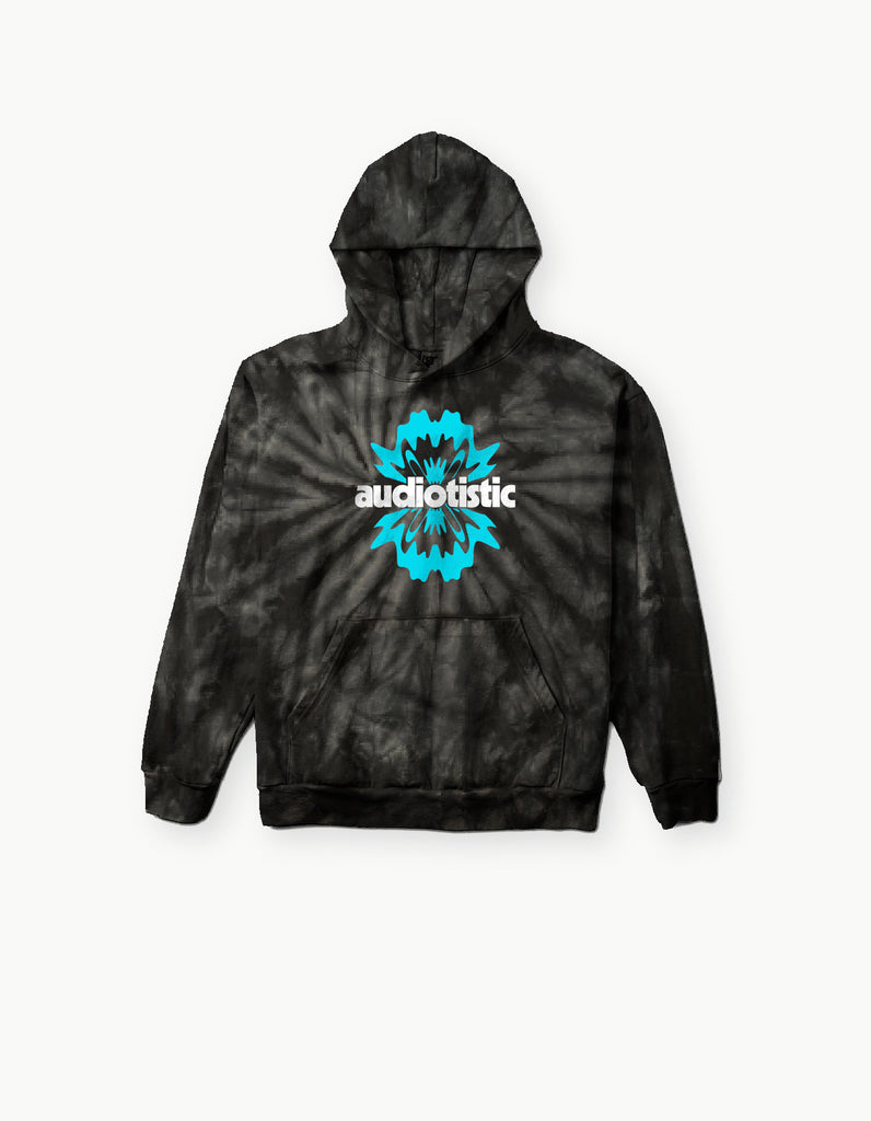 Audiotistic So Cal 2019 Waveform Tie Dye Hoodie