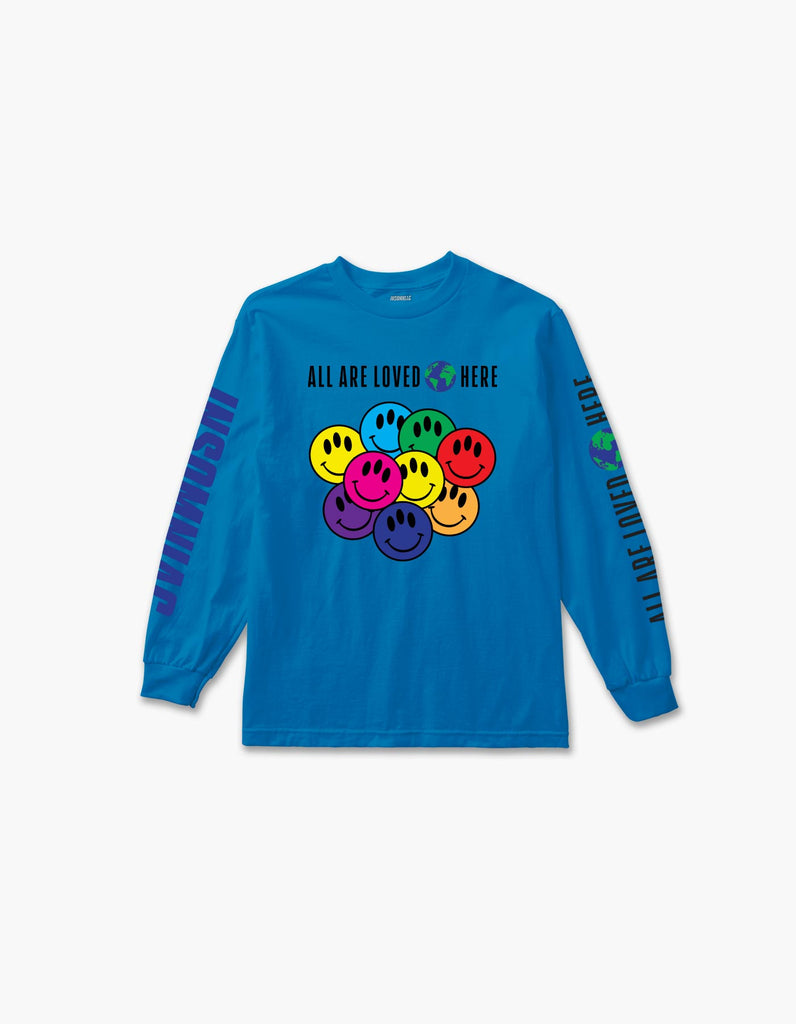 All Are Loved Here L/S Tee Blue