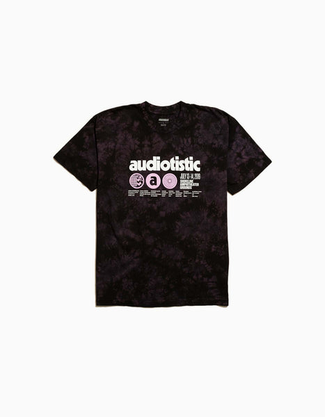 Audiotistic Bay Area Phonic 2019 Line Up Tee Purple Tie Dye