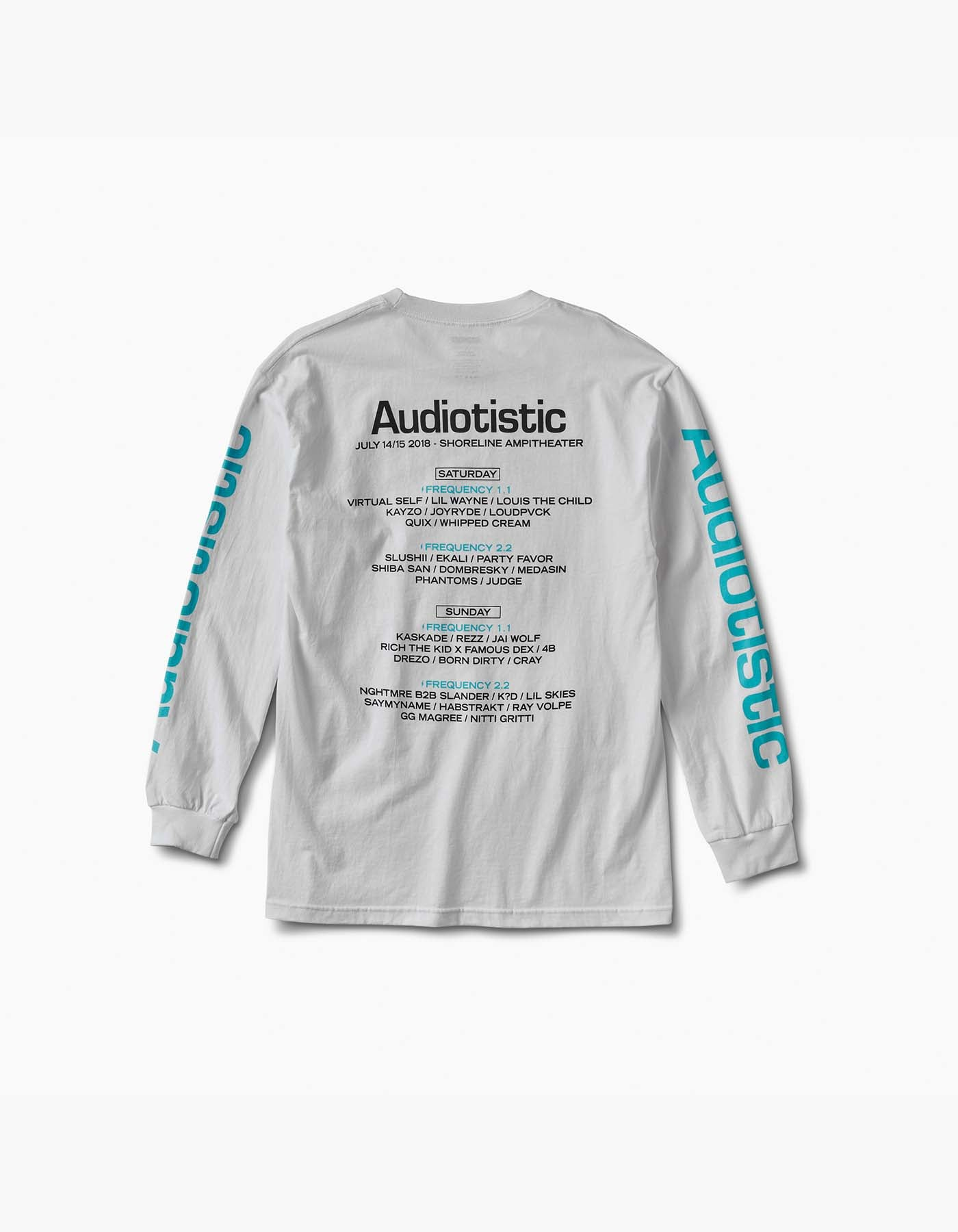 Audiotistic Hi-Fi 2018 SF Line Up L/S Tee White
