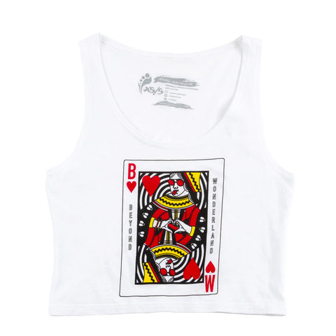 Beyond Wonderland Queen Cards Mini Crop Top