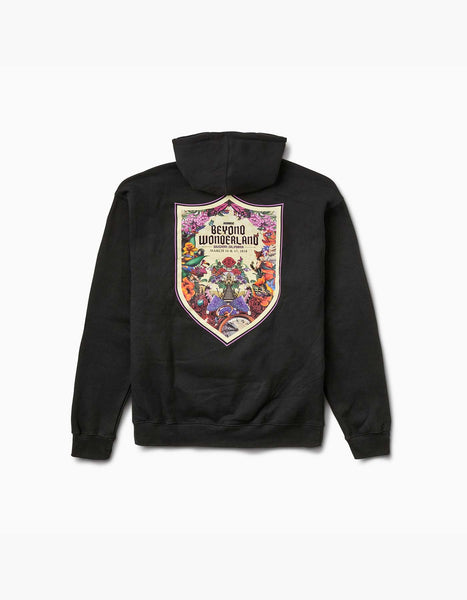 Beyond Wonderland Shield Hoodie Black