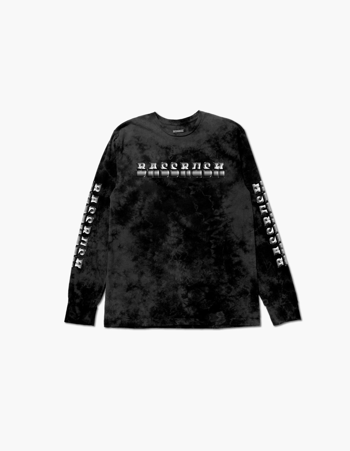 Bassrush Triple Threat Tie Dye L/S Tee Black