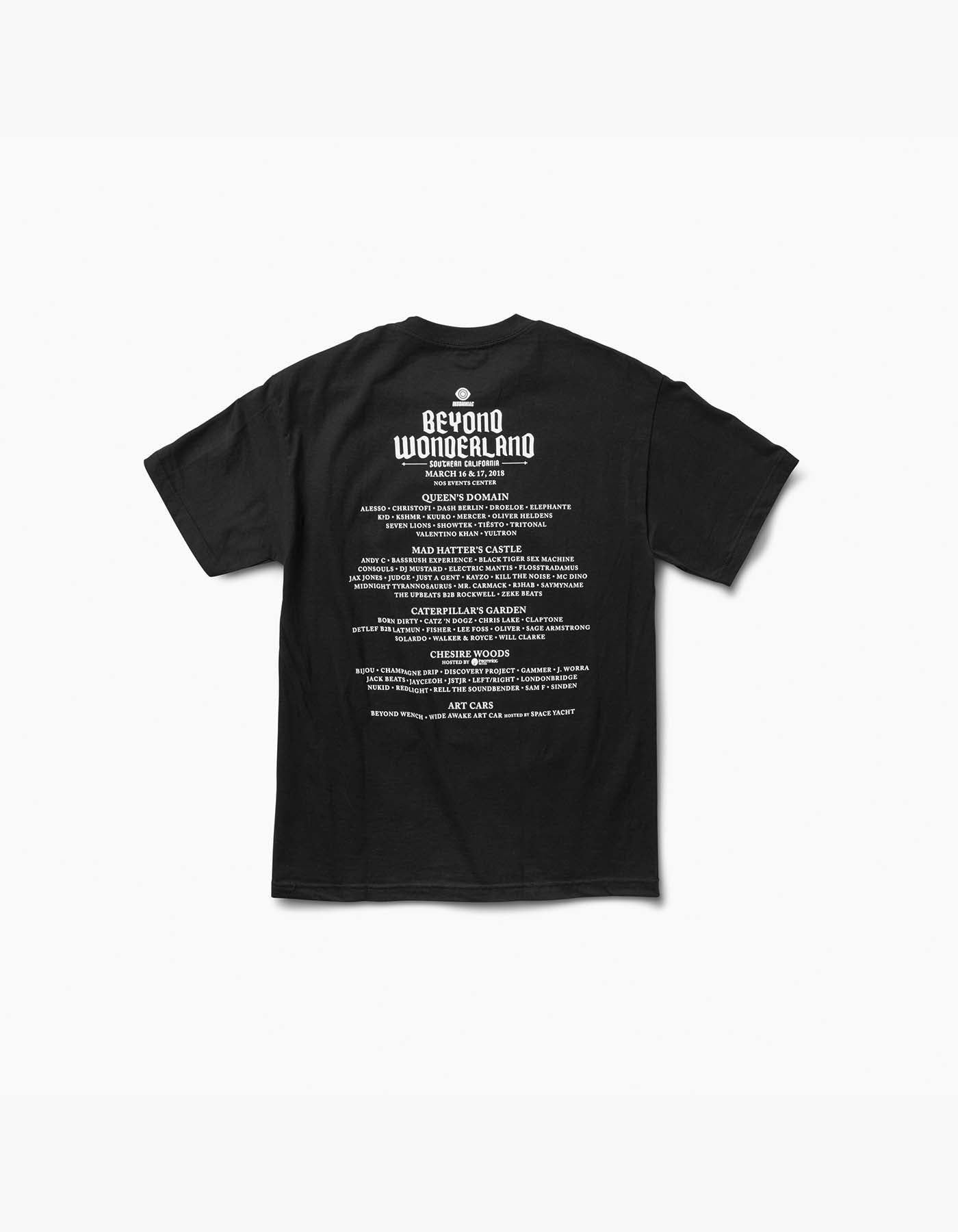 Beyond Wonderland 2018 Line Up Tee Black