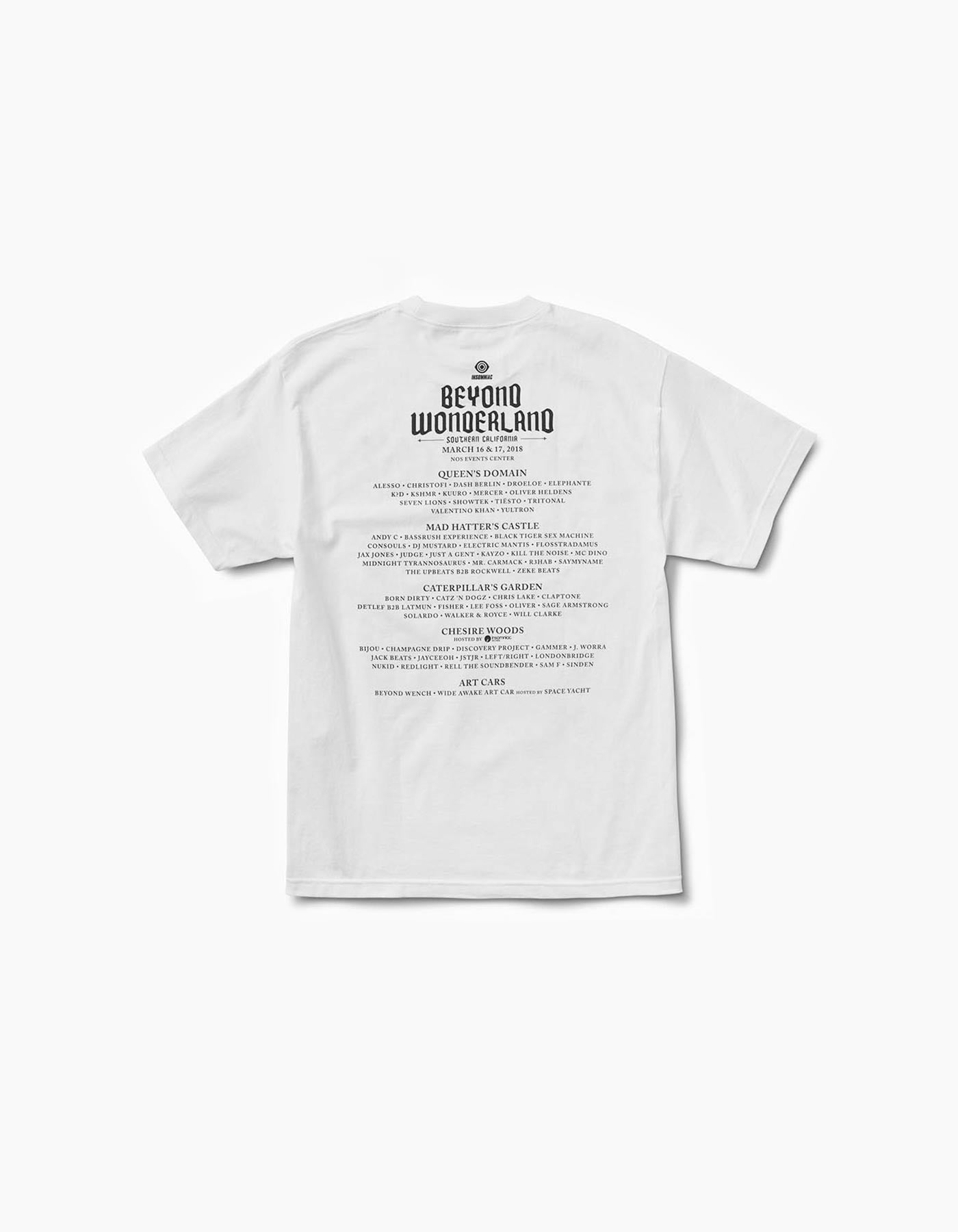 Beyond Wonderland 2018 Line Up Tee