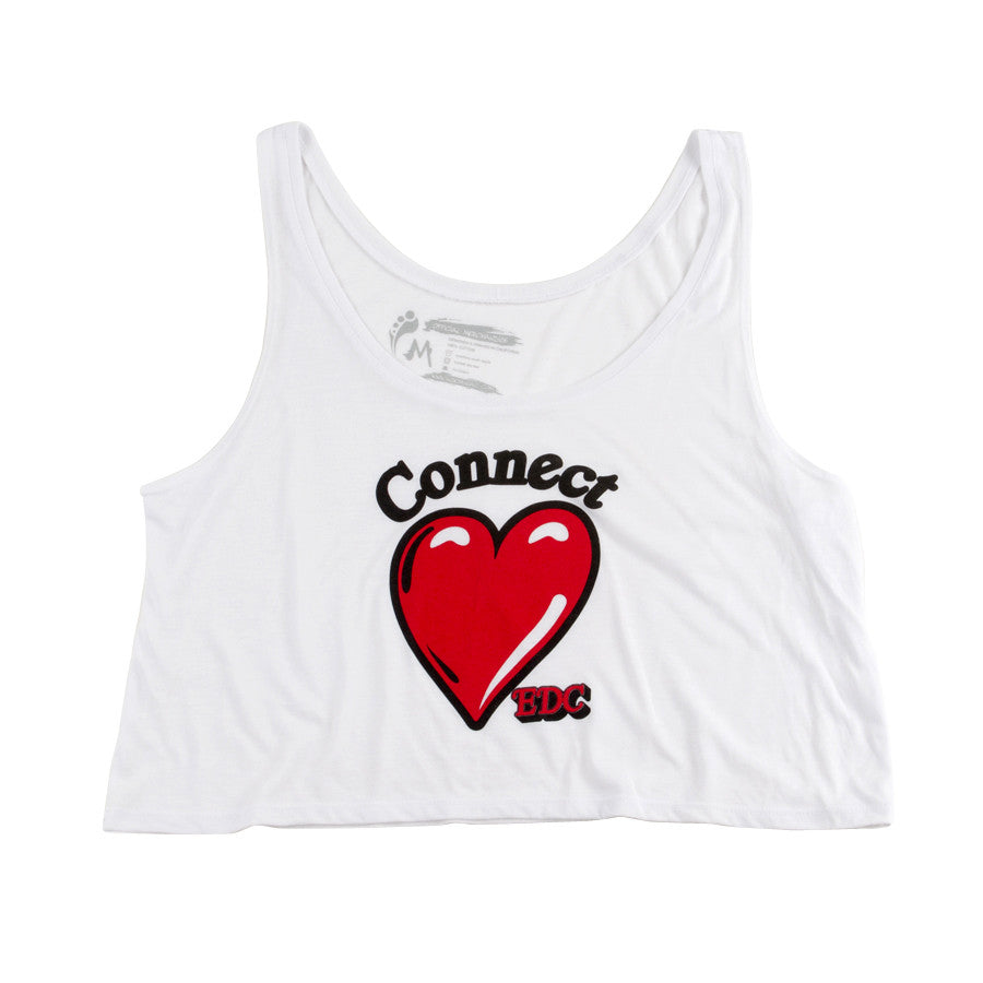 H  EDC Heart Connect Crop Top