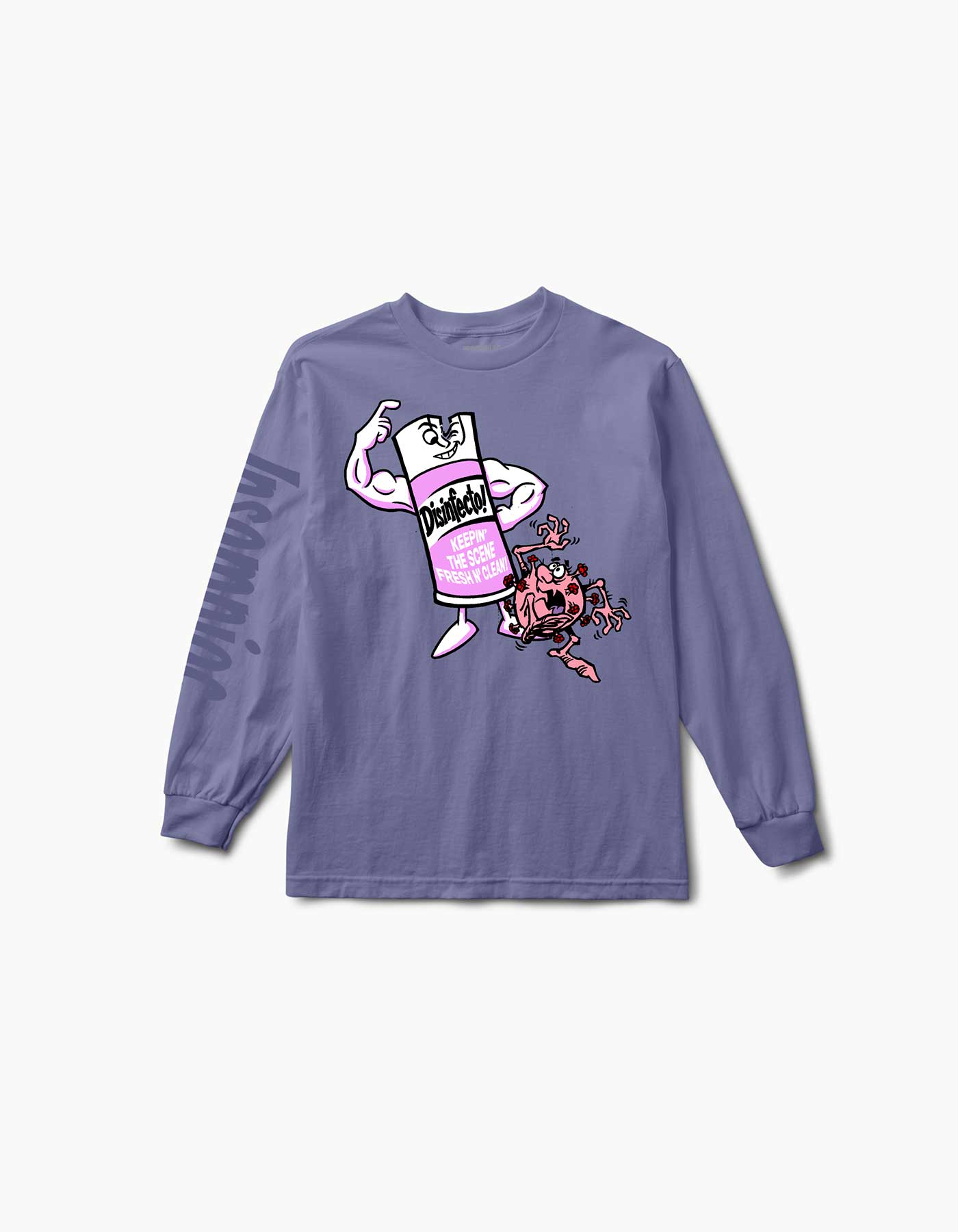 Disinfecto Can L/S Tee Violet