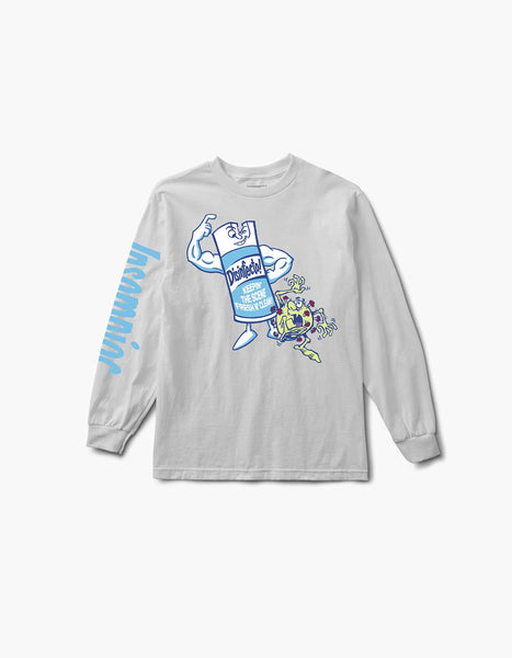 Disinfecto Can L/S Tee White