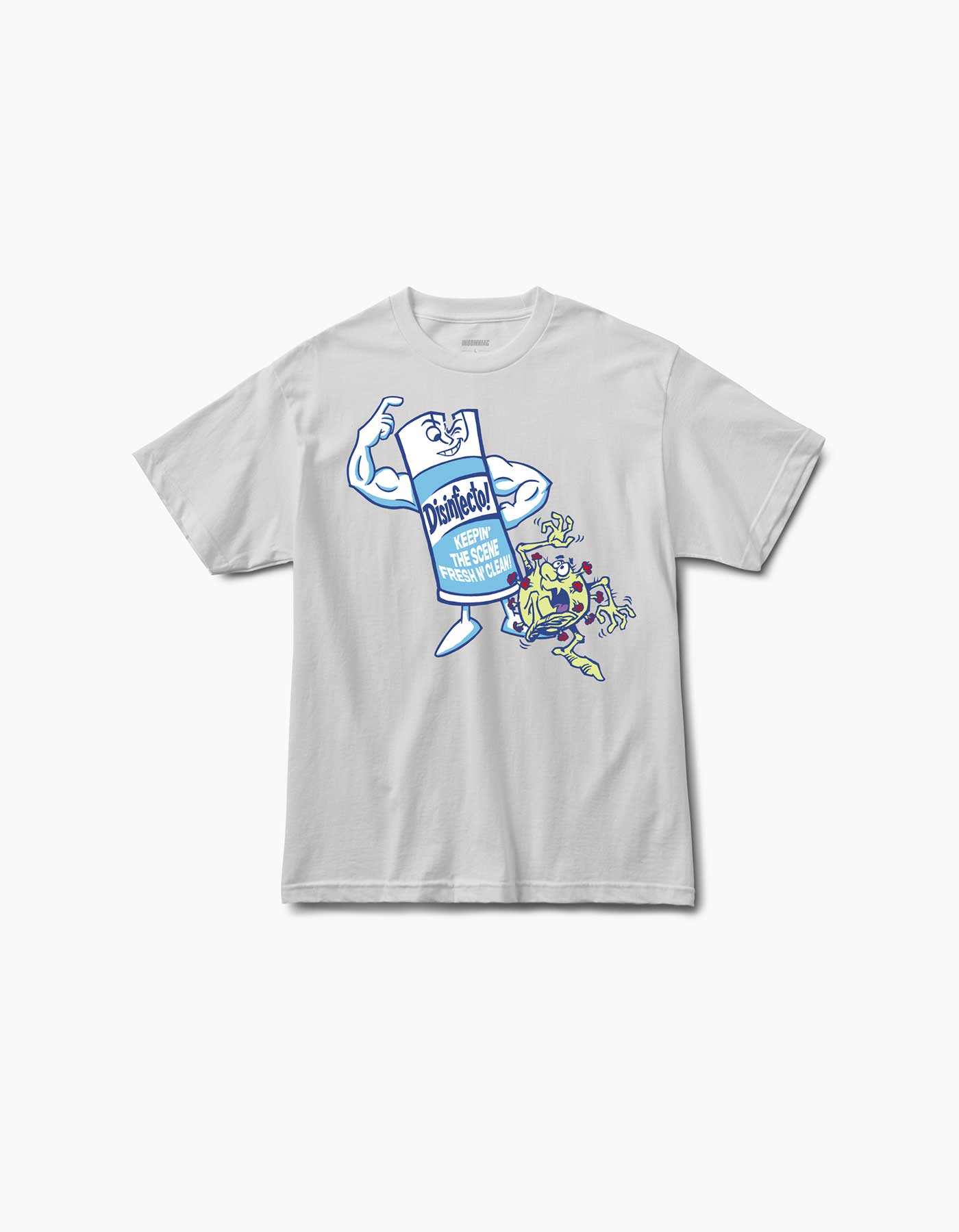 Disinfecto Can S/S Tee White