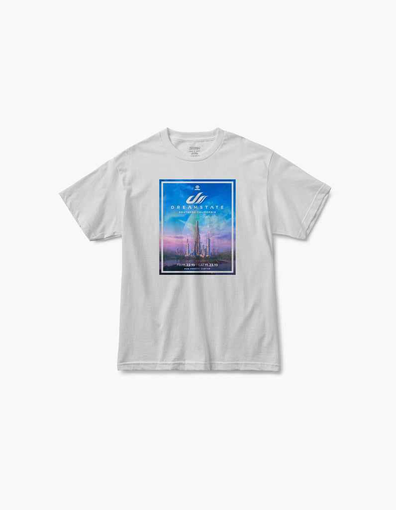 Dreamstate Atmosphere 2019 Socal Line Up Tee White