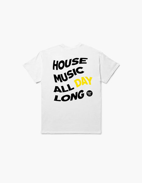 Day Trip House Tee White