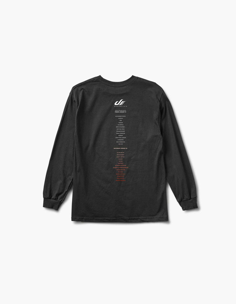 Dreamstate Fader 2018 SF Line Up L/S Tee