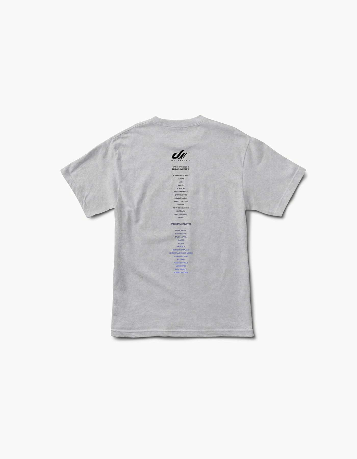 Dreamstate Fader 2018 SF Line Up Tee