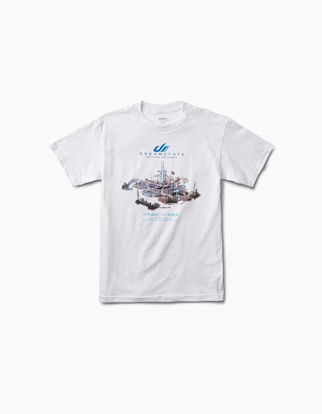 Dreamstate LA City Line Up Tee White