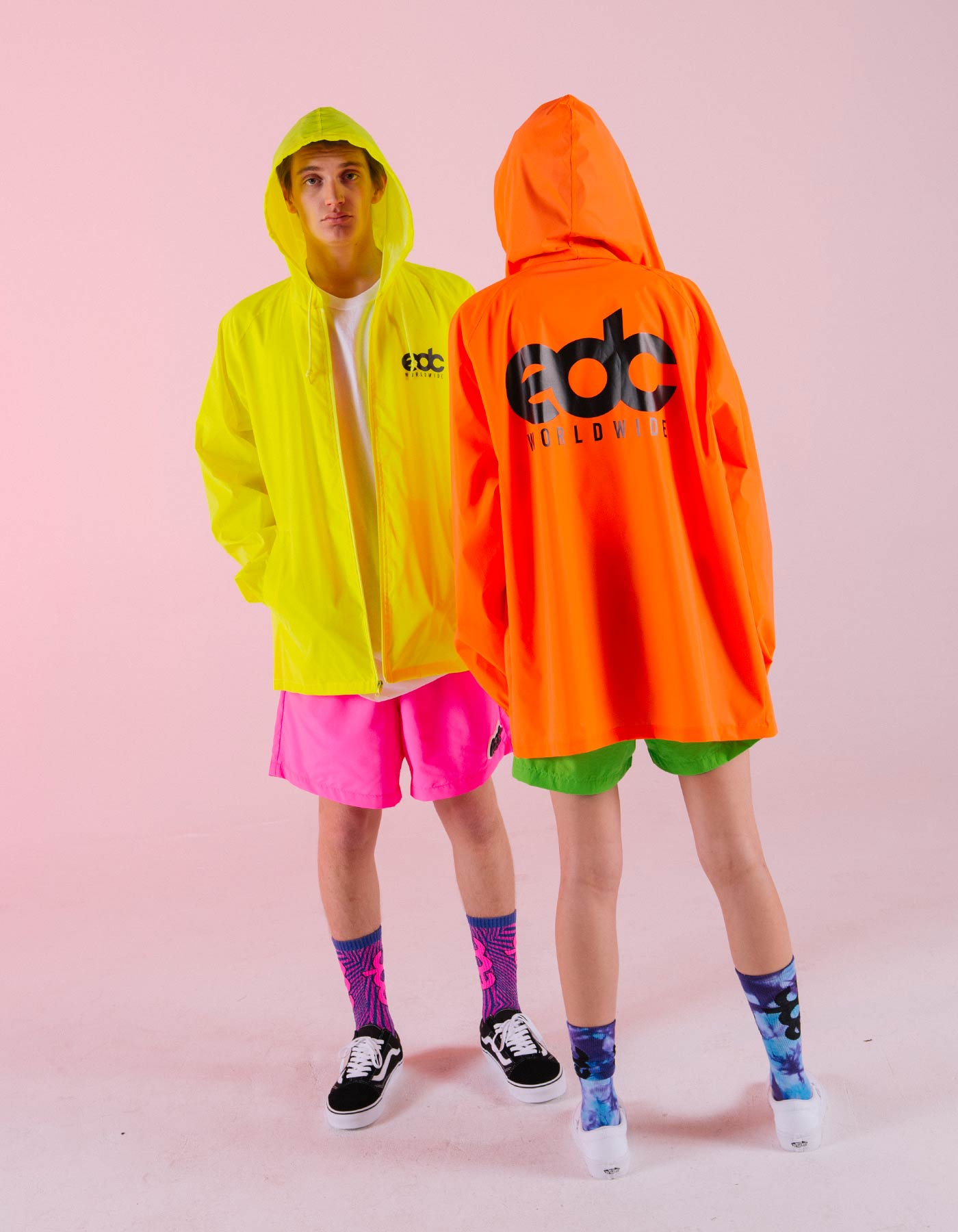 EDC Worldwide Reflective Windbreaker Yellow