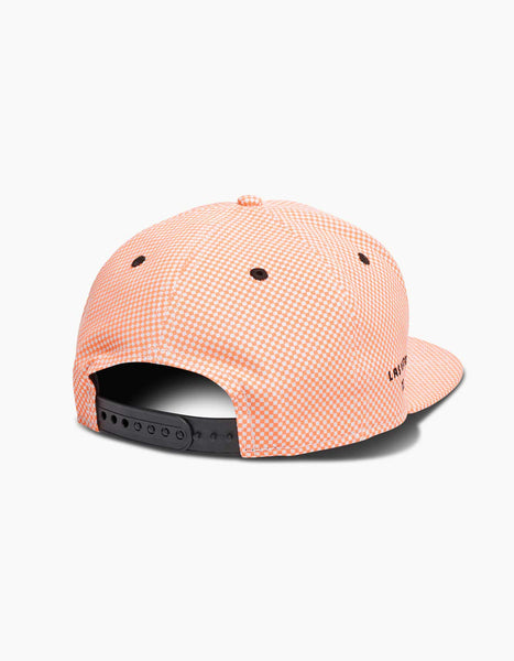EDC New Era Neon Micro Check Snapback Cap Neon Red