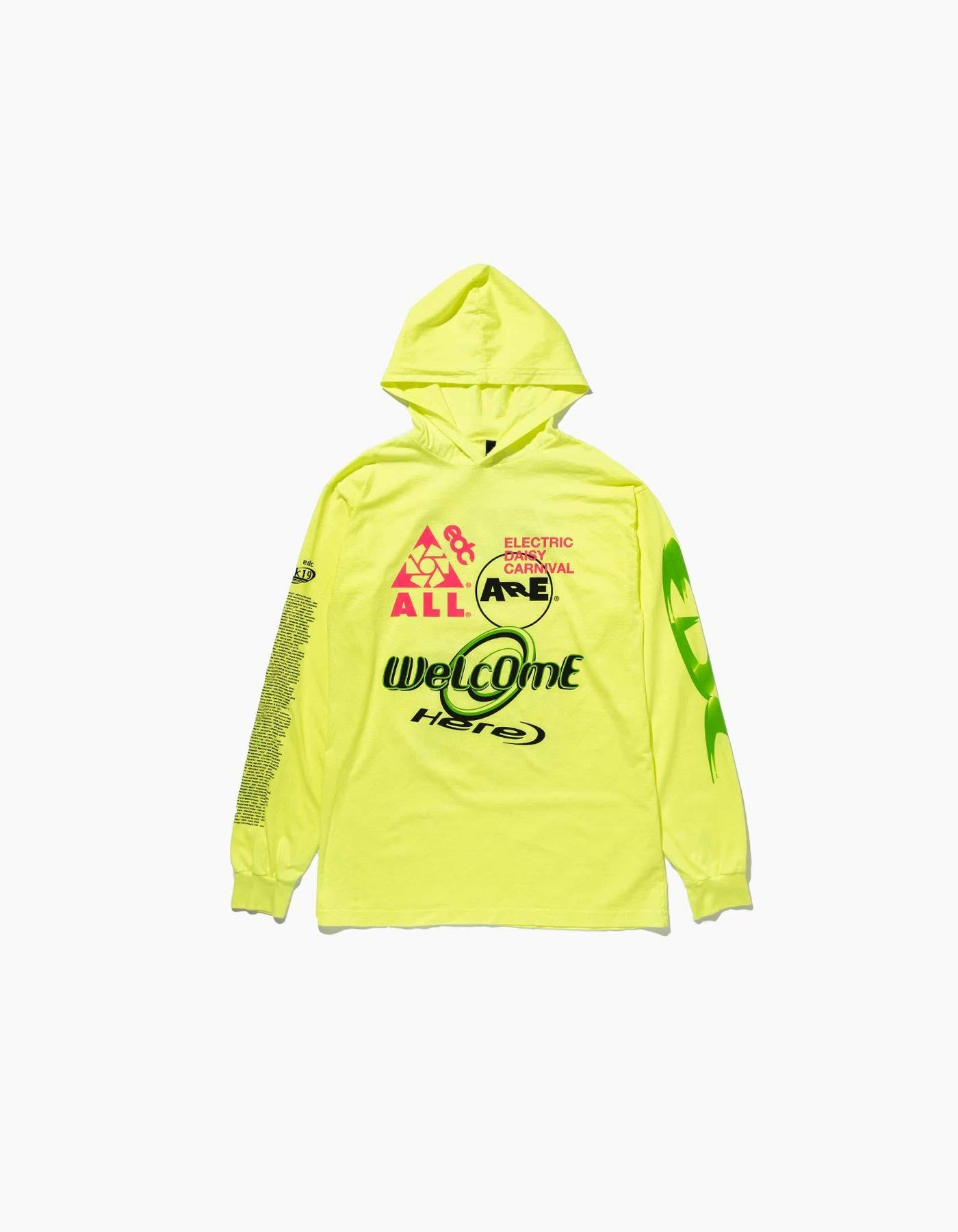 EDC Logomania L/S Hooded Las Vegas 2019 Line Up Tee