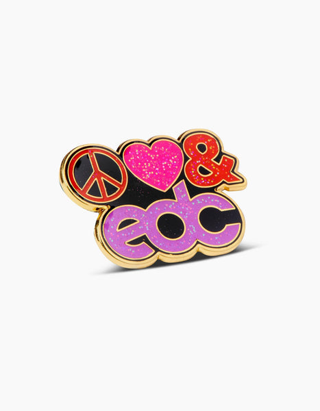EDC Peace Love & EDC Glitter Pin