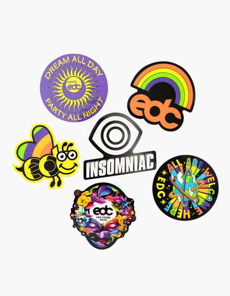INSOMNIAC DECAL 2 PACK FULL 8.5 INCH PAIR