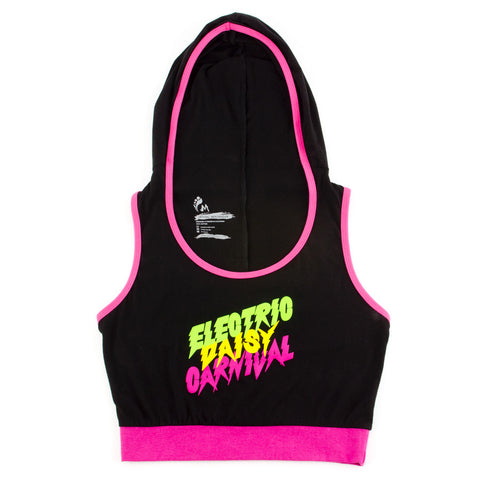 EDC Electric Bolt Hooded Crop Top