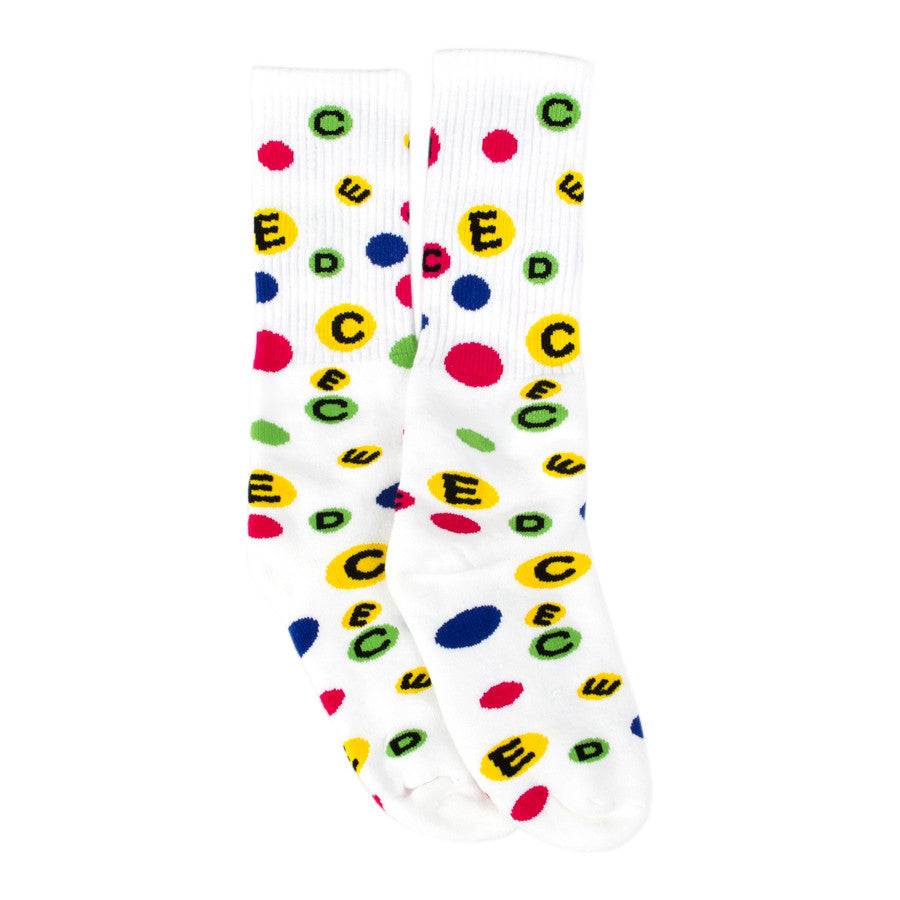 H  EDC Gumball Knee High Socks White