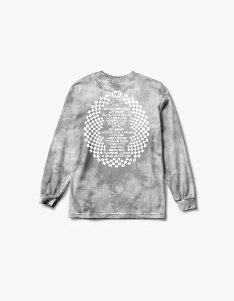 EDC 2020 Virtual Orlando Flamingo Tie Dye L/S Tee Grey