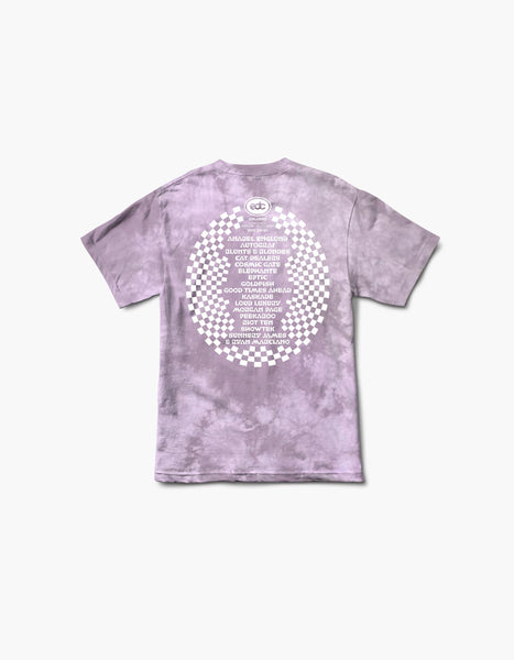 EDC 2020 Virtual Orlando Flamingo Tie Dye Line Up S/S Tee Pink