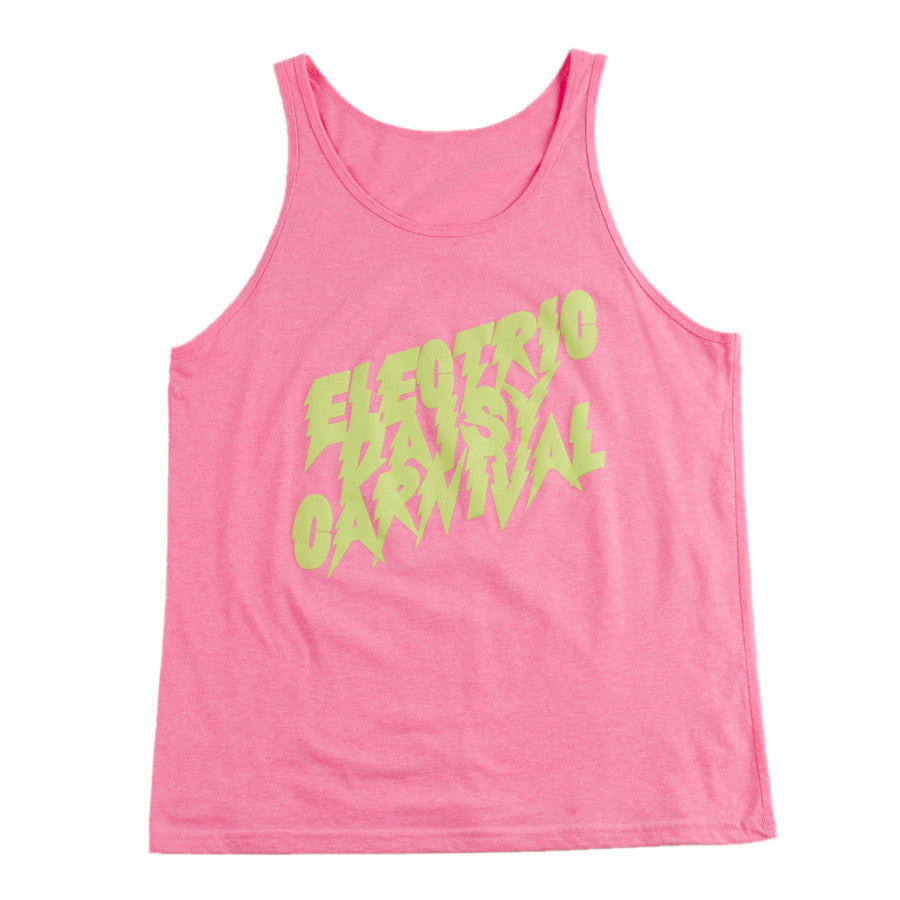 E  EDC Neon Pink Electric Bolt Tank