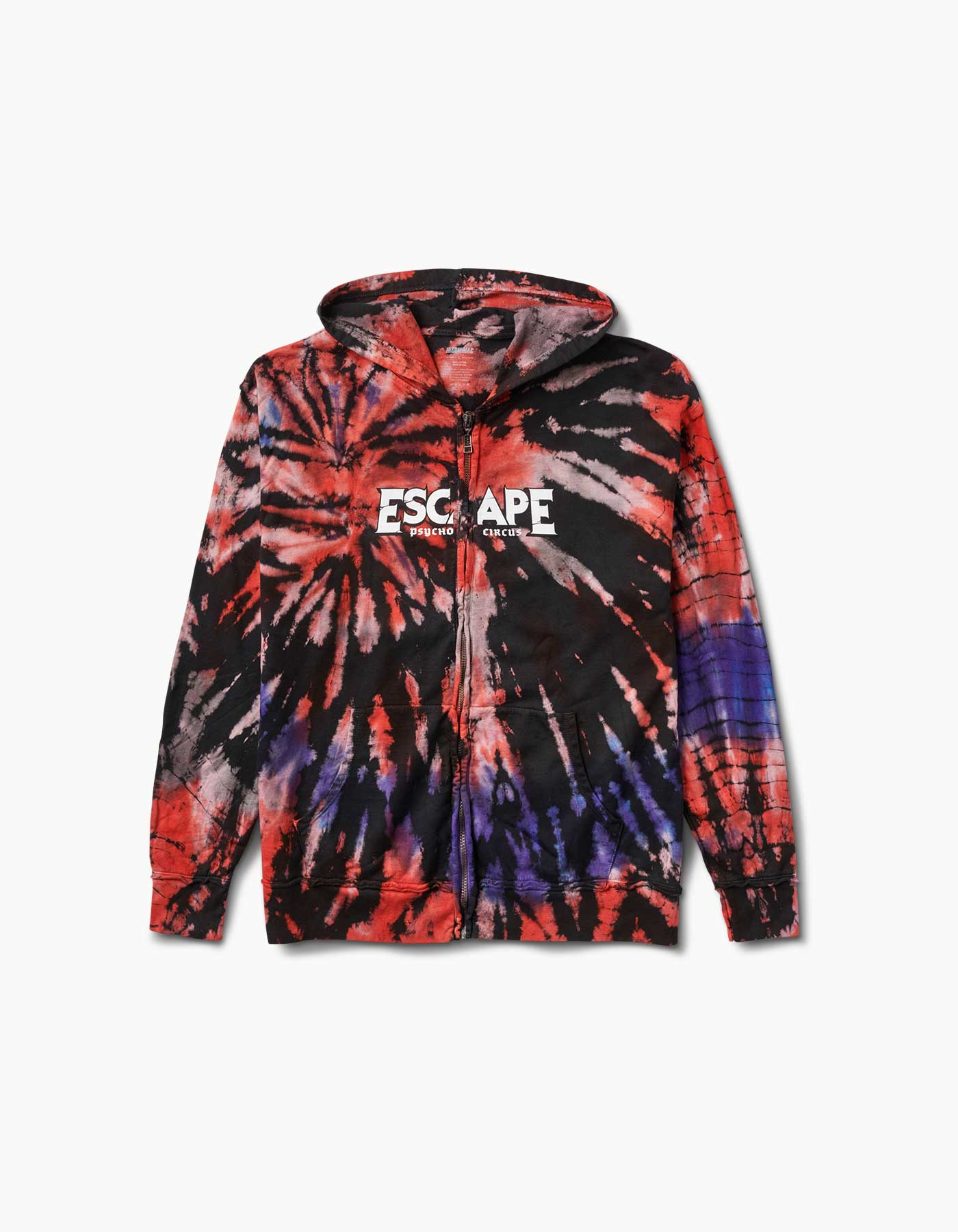 Escape Skully Tie Dye 2018 Line Up Zip Hood