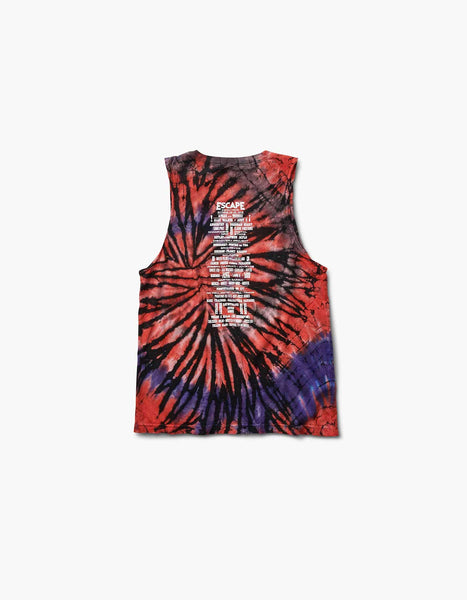 Escape Womens Skully 2018 Line Up Tie Dye Tank