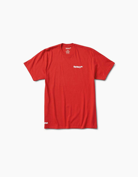 Factory 93 Classic Logo Tee Red