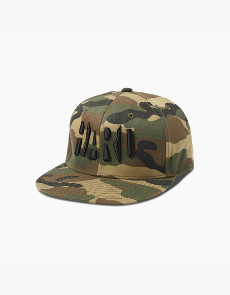 Hard Summer Snapback Hat Camo