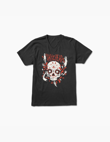 Hard Summer 2016-HSMF Skull V-Neck