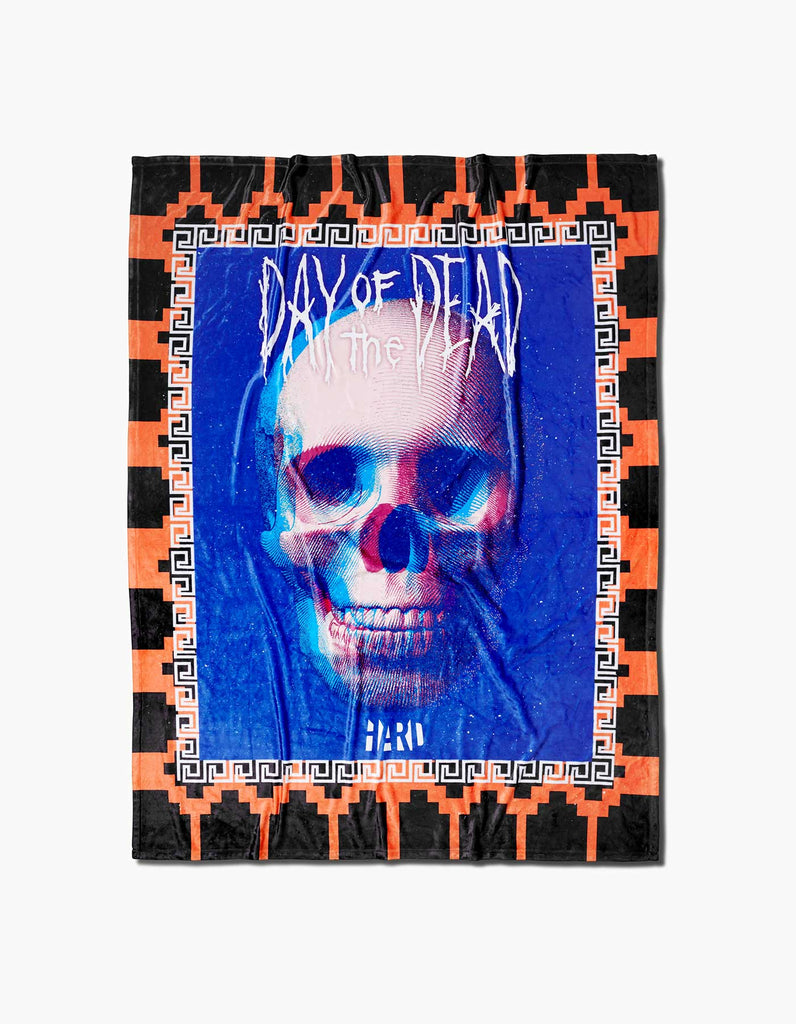 HARD DOTD Day of the Dead Blanket