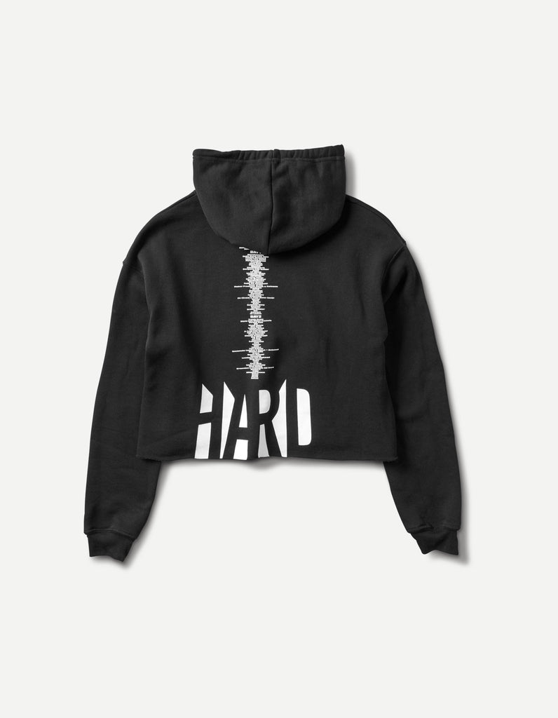 HARD - Summer Chopped Cropped Women's 2018 Line Up Hoodie